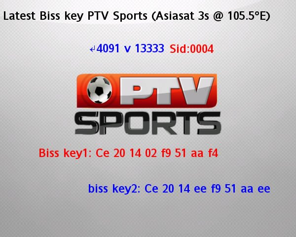 Biss Key PTV. (official FP PTV Sports)