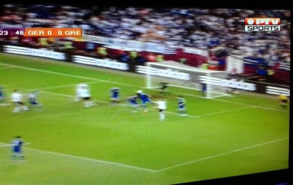 PTV Sports saat menayangkan laga Jerman vs Yunani. (dok. bro maldini)