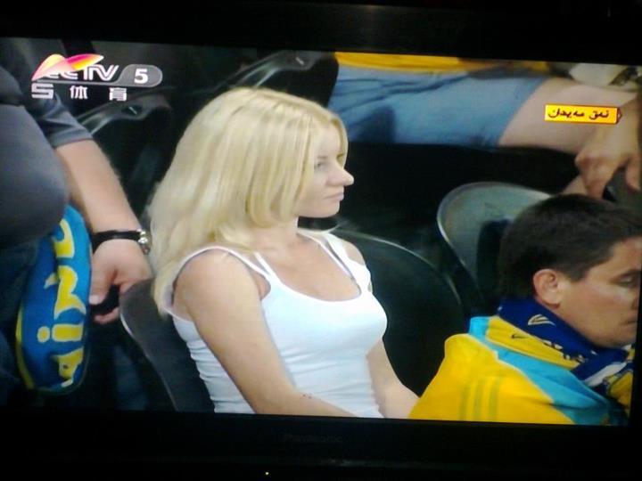 Penampakan suporter Ukraina di XJTV 5. (Dok. Bang Rokip)