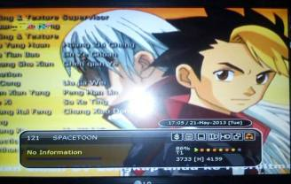 Spacetoon MPEG 2 di Telkom 1. (Zemlenk)
