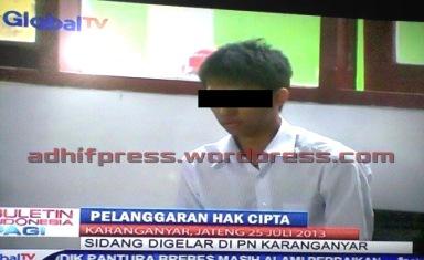 Terdakwa dugaan pembajakan Indovision.