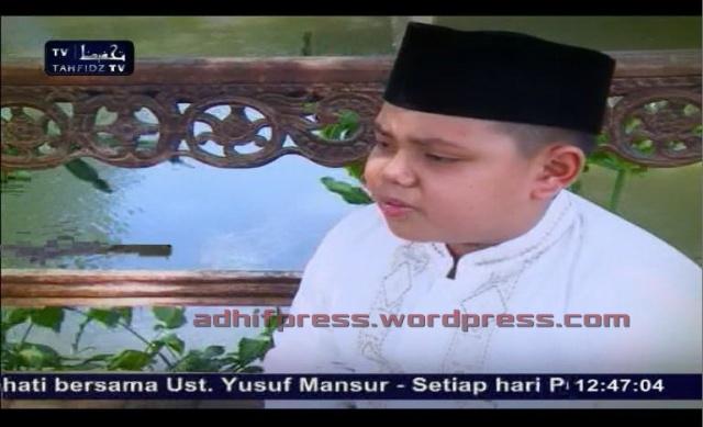Bacaan hafalan Al Qur'an yang indah seorang anak di Tahfidz TV. (AdhifPress/Adhif)